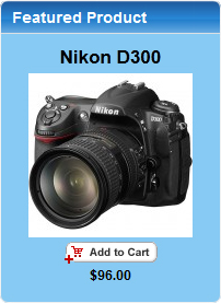 Featured Product Nikon D300 Add Cart
