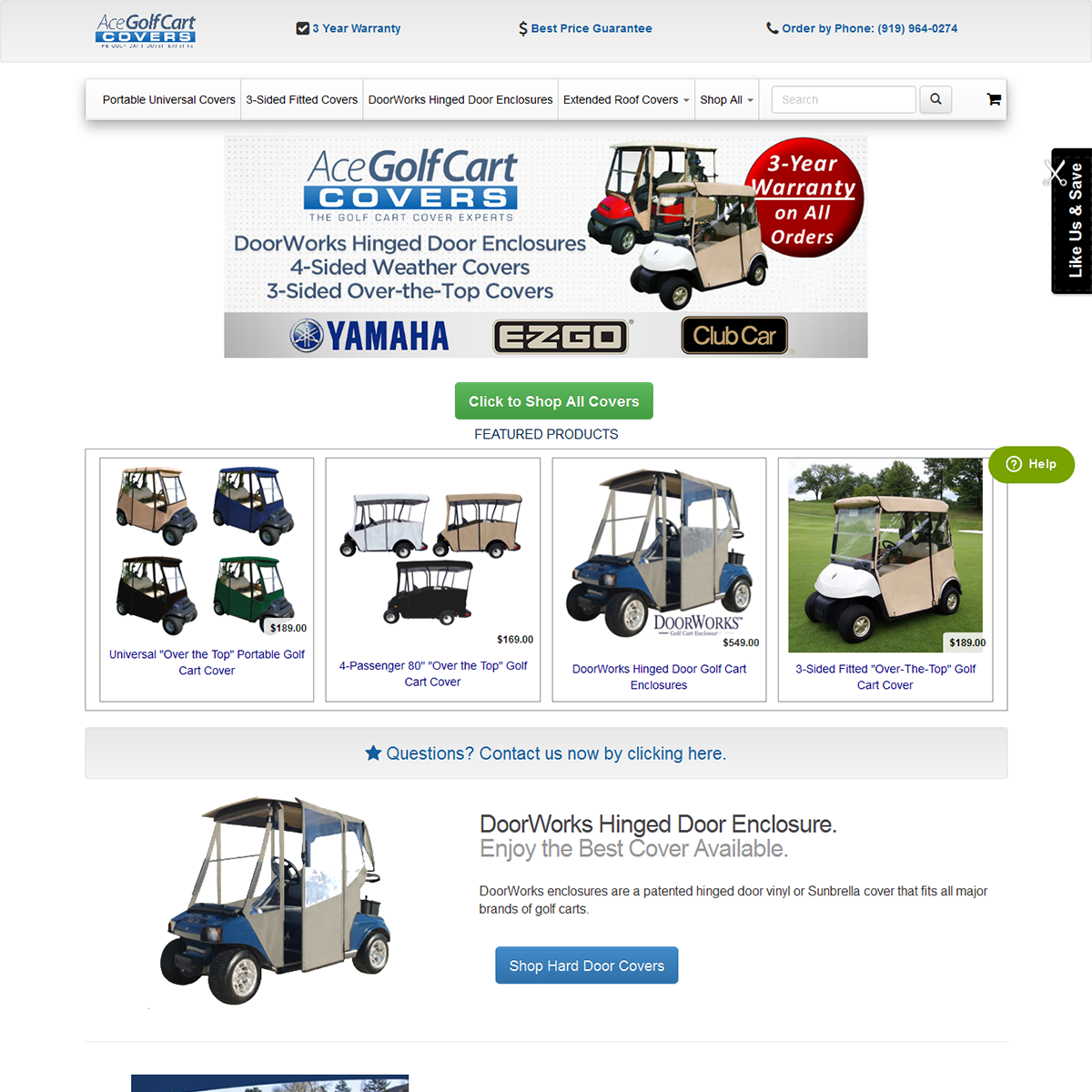 Ace Golf Cart Covers