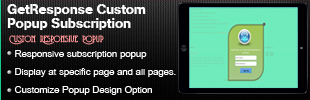 GetResponse Custom Popup Subscription