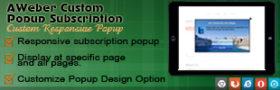 AWeber Custom Popup Subscription