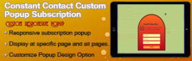 ConstantContact Custom Popup Subscription