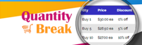 Quantity Break and Tiered Pricing