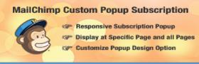 MailChimp Custom Popup Subscription