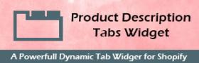Product Description Tabs Widget