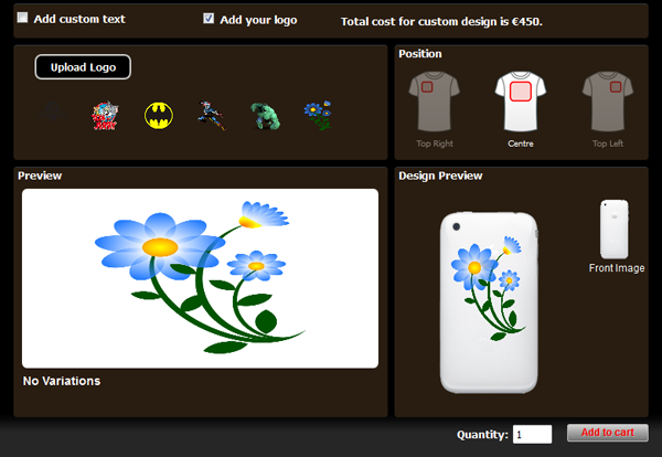 WP eCommerce Custom T-Shirt Design Studio - 10